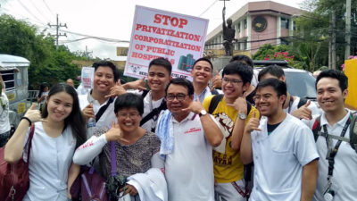 manifestation against privatization of health care