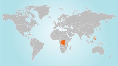 Landen waar Viva Salud actief is