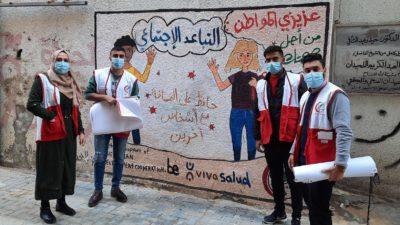 Jongeren in Gaza sensibiliseren tijdens coronapandemie