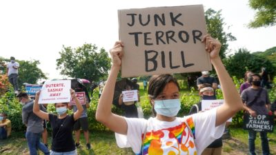 Protest against anti-terror law in the Philippines